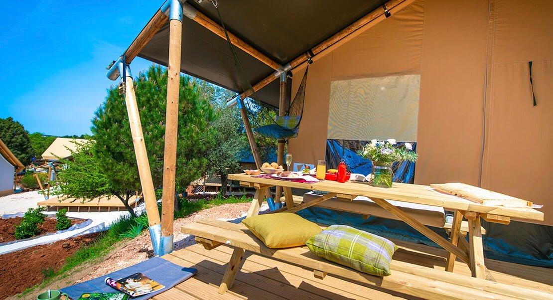 Glamorous safari tent